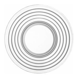 "Iittala - Aino Aalto Plate 6.75"" Clear - This simply pretty plate runs rings around the competition. Clear glass with a design accent of concentric circles looks great on your table and puts your fine cuisine in focus."