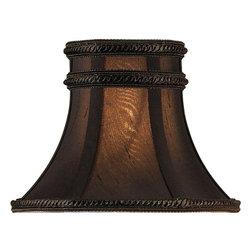 Currey & Company - Charcoal Brown Silk Shade - Decorative shade