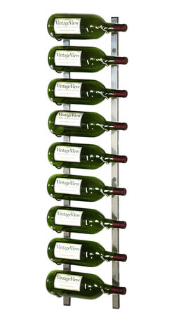 VintageView - VintageView 9-Magnum Bottle Metal Wine Rack, Brushed Nickel - Expand the convenience of your wall mounted wine rack system. Suitable for large bottles up to 1.5L. These metal wine racks are durable and elegant. Showcase your wine, not the rack. We are the #1 dealer of VintageView products in America. We back our position with unsurpassed customer service.