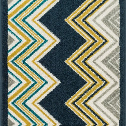 "Loloi Rugs - Loloi Rugs Terrace Collection - Navy / Multi, 1'-8"" x 2'-6"" - Bold design and bright colors come together beautifully in the outdoor-friendly Terrace Collection. Each Terrace rug is power loomed in Egypt of 100% polypropylene that's specially treated to withstand rain and UV damage without staining or fading color.�"