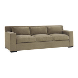 Lazar Industries - Corvo 3-Seater Sleeper Sofa in Woolco Taupe - Corvo 3-Seater Sleeper Sofa by Lazar Industries offers exceptional style and comfort with track arms and exquisite tailoring.