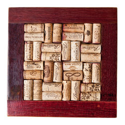 Alpine Wine Design - Wine Barrel Trivet Kit - Create your own wine diary and protect your tabletop at the same time. This trivet kit takes the corks you've saved from wines you've savored, all in a frame that's salvaged from used wine barrels. Get a few — along with more wine — and start working on your holiday gift list.
