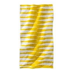 Nate Berkus Topanga Beach Towel, Yellow/White - This Nate Berkus for Target towel hits on the color I can't get enough of these days: citrus yellow.