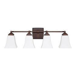 Capital Lighting - Capital Lighting 8454-119 4 Light Vanity Fixture - Capital Lighting 8454-119 4 Light Vanity FixtureFeaturing a classic colonial style, this beautiful transitional four light vanity wall sconce design will complement any d�cor.Capital Lighting 8454-119 Features: