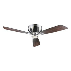 """Quorum International - Nikko Hugger Ceiling Fan by Quorum International - The Quorum Nikko Hugger Ceiling Fan is filled with sleek, cool, contemporary appeal. Available with a 44"""" or 52"""" blade diameter, the 3-blade Nikko features a choice of finishes and a satin opal glass downlight. Includes a wall remote with 3 speed/light control; the fan is reversible, with a manual reverse switch. Unique products for unique customers. That's what Quorum International has been creating since 1981. From their headquarters in Fort Worth, Texas, Quorum designs ceiling fans and lighting fixtures in a wide range of styles to meet a wide range of discerning tastes. The high quality of these pieces ensures that their beauty will last for many years to come."""