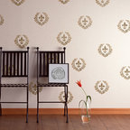 Fleur de Lis Garland Classic Motif Stencil - Fleur de Lis Garland Wall Stencil from Royal Design Studio Stencils.This traditional French stencil can be used singly or repeated to create a wallpaper effect. Fits perfectly in a kitchen, dining room, powder room or den.