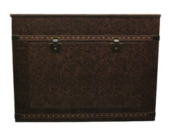 "Touchstone Home Products - Elevate Vintage Leather Trunk TV Lift Cabinet for Flat Screen up to 42"" - The Elevate Vintage Trunk by Touchstone has the smallest footprint of any TV Lift Cabinet, but will accommodate flat screen televisions up to 44"" wide. The Elevate Vintage Trunk's TV Lift Cabinet's leather wrapped, steamer trunk design, is our most versatile cabinet. The aged cigar leather finish fits so many decors thanks to it beautiful finish. Don't be misled by the Vintage Trunk's price, you'll be thrilled with the built in quality of this TV Lift. The Elevate Vintage Trunk's four-sided finish gives consumers the versatility to have amazing flat screen viewing at the foot of the bed, in the living room, or anywhere in the home."