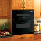 "GE Profile - PT925DNBB 30"" Single-Double Electric Wall Oven with 5.0 cu. ft  PreciseAir Conve - This single-double oven gives you two ovens for only the space of one allowing you to double your cooking pleasure without sacrificing valuable kitchen space"