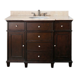 "49"" Cesarina Single Bath Vanity - Walnut -"