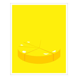 Hybrid-Home - Limited Edition Print - 33% in Love - Your love for this lemon-yellow limited edition print will be simply off the charts. Charmingly designed by Heather Amuny-Dey and silkscreened on archival stock, this picture will be a bright spot of fun on your wall!