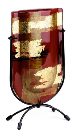 Bronze Age - Red and Gold Mini U Bud Vase Glass Display - This gorgeous Red and Gold Mini U Bud Vase Glass Display has the finest details and highest quality you will find anywhere! Red and Gold Mini U Bud Vase Glass Display is truly remarkable.