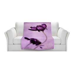 DiaNoche Designs - Throw Blanket Fleece - Iris Lehnhardt Purple Blossoms - Original Artwork printed to an ultra soft fleece Blanket for a unique look and feel of your living room couch or bedroom space.  DiaNoche Designs uses images from artists all over the world to create Illuminated art, Canvas Art, Sheets, Pillows, Duvets, Blankets and many other items that you can print to.  Every purchase supports an artist!