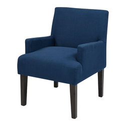 Office Star - Office Star Main Street Guest Chair in Indigo - Office Star - Guest Chairs - MST55W17 - Work Smart Main Street Guest Chair in Woven Indigo. Design to fit to almost any office setting the office star guest chair can be suitable for reception areas or waiting rooms.