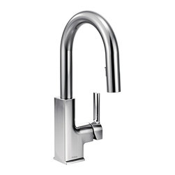 STo™ Bar Faucet with Chrome Finish - With a pulldown wand that blends into the slim faucet neck, the STo bar faucet keeps convenience concealed while displaying a modern look.