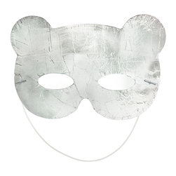 Freddy Dico - Silver NY Bear Mask - Now you can dress-up as the adorable 'Silver of New York' in this foil-mirror mosaic bear mask!