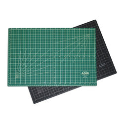 """Adir Corp - Adir Self Healing Cutting Mat Reversible Green/Black 24""""x36"""" - The Adir Cutting Mats are the most flexible cutting mats on the market today because they're made of a new, 3-ply high-tech polymer material. Constructed with a self-healing surface, Adir Cutting Mats are extremely durable and hold up under repeated use with art and mat knives or rotary cutters.Our self-healing cutting mats are 3 mm thick and made of 3 plies. The outer plies are .75 mm thick and give the mat self-healing properties. The inner core is 1.5 mm thick and prevents mat cut-through and extends blade life.Our pro-quality, self-healing mats have a medium tooth texture, non-glare surface, and are graduated on all four sides. Hash lines extend outside of the border. Mats are hashed to every 1/8-inch and graduated to every 1/2"""" with every inch marked with a heavier line. Grid pattern includes guide lines for 15,30,45,60,75 angles on one side and 10,20,30,40,50,60,70,80 on the other side and 1/2"""" grid lines. Our cutting mats also have lines for cutting diagonals. Our mats come also graduated in Centimeters and Milimeters.With the Adir Cutting Mats come the bonus feature of a different color on each side of the mat - one side is black, the other, green. Not only is this like getting two mats in one, but these two colors are non-glare and easy on the eyes. When these mats are not being used for cutting, they make a perfect surface for drawing or writing, thanks to the resilient texture of the 3-ply construction. Adir Cutting Mats are the ideal choice for artists, designers, photographers, illustrators, calligraphers, scrapbookers and hobbyists;Features: Self-healing: Closes immediately after cutting, For use with rotary and utility blades, Will not dull blades;3-Ply design with self-healing surface and hard core, Usable on both sides;Extremely durable, 3mm thickness;Non-slip for added safety on work tables, Non-glare cutting surface;Calibrated grid lines for easy cutting references, Perfect"""
