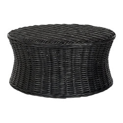 Safavieh - Safavieh Ruxton Ottoman X-B0356XOF - Bring the outdoors in with the woven rattan Ruxton cocktail ottoman, a transitional design that adapts to any decorating style from traditional to contemporary.