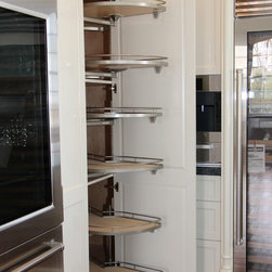 Virginia Cabinetworks, Inc. - Curles Neck Remodel - LeMans corner pull-outs.  Smooth, quiet operation.  Good use of lost space,
