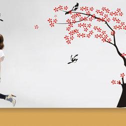 wall decal tree bird vinyl wall decals sticker -