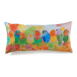 lava - Tropical Birds Pillow - Lava pillows are formed when eruptions of hot rock flow into distinctive creations and are quickly frozen by cool seawater. Lava is a trademark of American Mills, Inc. All lava products are made in America. Add elegant style to your home decor with lava decorative throw pillows.Features: -Durable 100 percent polyester cover and fill. -Spot clean only. -Made in the USA.