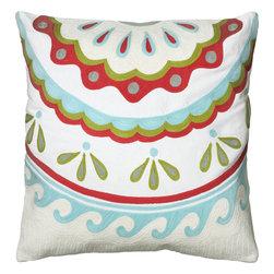 """Rizzy - Rizzy T06078 Pillow, 18"""" x 18"""" - Pillow with Hidden Zipper"""
