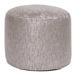 Howard Elliott - Glam Tall Pouf Ottoman - Our Pouf Tall Ottomans are a great add on to any decor. They work as a Tall rest or extra seating. They are filled with polyester fiber & recycled EPS filler. Cover is a cotton-poly faux suede and removable for easy care.