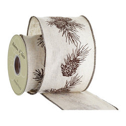 Silk Plants Direct - Silk Plants Direct Pine Cone Linen Ribbon (Pack of 6) - Pack of 6. Silk Plants Direct specializes in manufacturing, design and supply of the most life-like, premium quality artificial plants, trees, flowers, arrangements, topiaries and containers for home, office and commercial use. Our Pine Cone Linen Ribbon includes the following: