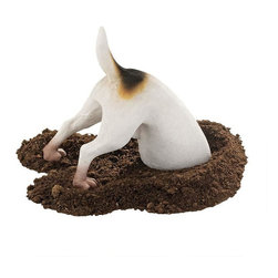 """EttansPalace - Head in a Hole Dog Home Garden Yard Statue Sculpture Figurine - This dog is not quite on an archeological dig, but our whimsical dog statue just may be """"in over his head"""" as he scouts for buried treasure - or that lost bone! This humorous dog sculpture is complete with wagging tail, leaving the rest of our dog statue to your imagination. Our exclusive gargoyle statue is cast in quality designer resin with hand-painted detail from spots to paws, our garden animal statue makes a fun gift for any dog lover! Another quality dog statue from!"""