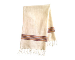 Woven Promises - Soft, Absorbent Handmade 100% Ethiopian Cotton Zarima Hand Towels, Peach with Cr - With a simple, sophisticated style, our hand towels can be used for the kitchen and/or bathroom as well as in a picnic basket or diaper bag. They are wonderful for the home and essential for travel. They wash and dry beautifully and quickly. They get softer with each wash and are quite durable.