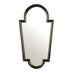 BoBo's Intriguing Objects - Agadir Mirror Black - Wall mirrors open your space, and when you choose one with a strong, stylish frame, you enhance your decor as well. This piece, inspired by a classic Moroccan design, connects sensuous curves with powerful lines to simple yet striking effect.