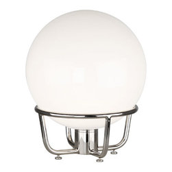 Robert Abbey - Robert Abbey Rico Espinet Buster Globe Globe Table Lamp S240 - Polished Nickel Finish