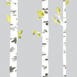 RoomMates - Birch Trees Peel and Stick Giant Wall Decals - Create a relaxing mood in your room of choice with these Birch Trees Giant Wall Decals. Easy to remove and reposition to your liking, these wall stickers are perfect for any study room, office, or bedroom.  Just peel and stick to create a calm scene of nature in minutes!