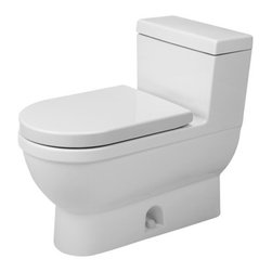Duravit - Duravit | Starck 3 One-Piece Elongated Toilet - Design by Philippe Starck.Made in Germany by Duravit.A part of the Starck 3 Collection. The top-quality Starck 3 One-Piece Elongated Toilet offers an elongated bowl for maximum comfort. The one-piece construction ensures the toilet is more hygienic by eliminated the places where bacteria builds up. Made from durable and easy to clean porcelain. Product Features: