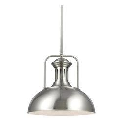 Sea Gull Lighting - Sea Gull Lighting 6515401 Beacon Street 1 Light Industrial Pendant - Features:
