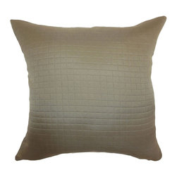 "The Pillow Collection - Maertisa Quilted Pillow Espresso 20"" x 20"" - Decorate your space with a luxurious quilted throw pillow. This stylish accent pillow is an ideal statement piece that you can prop up on your furnishings. The decor pillow is versatile and practical, which suits many decor styles and settings. The Espresso-colored square pillow is made from 100% polyester fabric. Combine this with patterns like ikats, toiles, geometric and more. Hidden zipper closure for easy cover removal.  Knife edge finish on all four sides.  Reversible pillow with the same fabric on the back side.  Spot cleaning suggested."