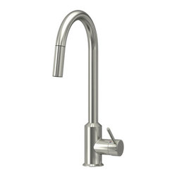 Mikael Warnhammar - RINGSKÄR Single lever kitchen faucet - Single lever kitchen faucet, pull-out stainless steel color
