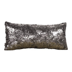 Howard Elliott - Silver Fox Kidney Pillow - Change up color themes or add pop to a simple sofa or bedding display by piling up the pillows in a multitude of colors, textures and patterns. This Silver Fox Pillow features a faux fur texture with metallic finish