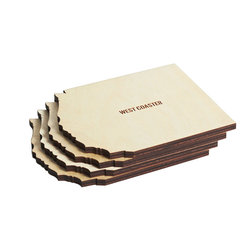 Reed Wilson - West Coasters - Coast-to-Coasters are manufactured in the USA. Made from Baltic Birch with a moisture resistant finish. Each set is comprised of 4 coasters.