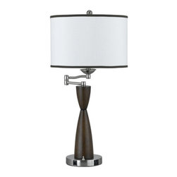 Cal Lighting - Cal Lighting LA-60006TB-1R Hotel 1 Light Table Lamps - Features: