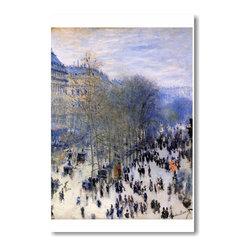"""PosterEnvy - Boulevard des Capucines 1873 - Claude Monet - Art Print POSTER - 12"""" x 18"""" Boulevard des Capucines 1873 - Claude Monet - Art Print POSTER on heavy duty, durable 80lb Satin paper"""