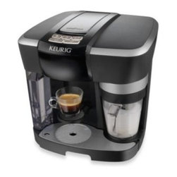 Keurig - Keurig Rivo R500 Brewer in Black - With the new single serve Rivo R500 Brewer from Keurig, a mere touch of a button is all you need to enjoy authentic Italian espresso on one side and perfectly frothed milk on the other in the convenience your home.