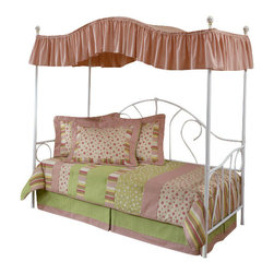 Hillsdale Furniture - Hillsdale Bristol Daybed with Canopy - A classic style, this bed features a traditionally designed silhouette that will remain in vogue for years to come. By adding the optional canopy this bed becomes any little girl's dream bed, making her feel like a princess.