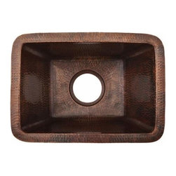 Premier-Copper-Products - Rectangle Copper Prep Sink W/ 3.5 Drain Size - BRECDB3 Premier Copper Products Rectangle Copper Prep Sink W/ 3.5 Inch Drain Size