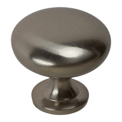 "GlideRite Hardware - GlideRite 1-5/32"" Round Cabinet Knob Satin Nickel - Add a timeless look to your cabinets with this round satin nickel knob.  Each knob is individually packaged to prevent damage to the finish and a standard installation screw is included."
