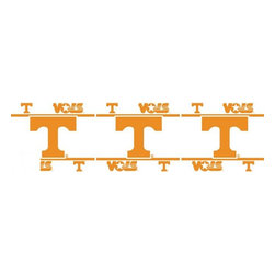 Sports Coverage - NCAA Tennessee Volunteers Self Stick Wall Border - It's so quick and amazing, just peel and stick! Self-stick, removable, and reusable NCAA Tennessee Volunteers Wall Borders are the easy way to decorate and won't damage walls! Peel and Stick technology will adhere to any smooth surface. Washable and dry strippable. Colorful graphics are printed on durable, tear-resistant vinyl wall border in the repeating pattern shown. Size: 5 x 15' long per package. It's so quick and amazing, just peel and stick! Installation has never been so easy!