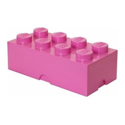 LEGO - LEGO Storage Brick 8, Medium Pink - Our Lego Storage Brick 8 in bright red isn't simply a container  it's a giant Lego brick that can be used to build oversized creations. Lift off the top to reveal storage space for small toys, regular bricks and building accessories based on your space and needs.