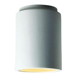 Filament Design - Leonidas 1-Light 13 in. Paintable Ceramic Bisque Cylinder Flush-Mount - Shop for Lighting & Fans at The Home Depot. The cornerstone of the Leonidas Collection is quality, and this outdoor contemporary flush mount is no exception. By leaving this fixture the basic ceramic, you are able to customize your flush mount to any color or finish of your choosing; making it the perfect accent to your home. With the superb craftsmanship and affordable price this fixture is sure to tastefully indulge your extravagant side.