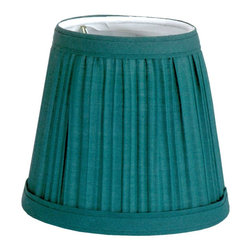 Renovators Supply - Lamp Shades Hunter Green Fabric Lamp Shade 4 1/16 H Clip On - Lamp Shades: Our Green Mushroom Shade is finished top to bottom with a band of matching fabric. Approximately 4 1/16 in. high x 3 in. top diameter, 4 1/2 in. bottom diameter. Shades clip on standard candelabra bulbs.