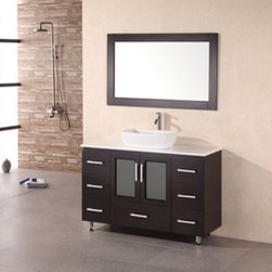 "Design Elements LLC - Bathroom Sink Vanity Set, 36"" Single Drop-In Sink, Huntington - Faucets not included"