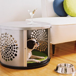 DenHaus BowHaus Modern Dog Crate - This ridiculously expensive dog crate could double as an end table, no?